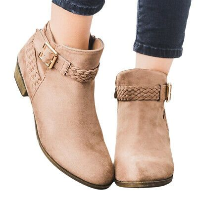 Womens Pointy Toe Ankle Boots Zipper Casual Shoes Faux Suede Pointed Toe Pull On