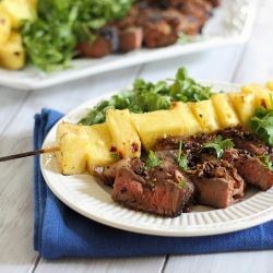 """Caribbean Grilled Steak & Pineapple. Not quite """"October"""" food, but amazingly simple & delicious. {recipe}"""