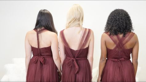 89ffed4d05 How to Tie #1: Interesting Back Styles for Rosalie - Revelry knows a thing  or two about styling tulle bridesmaid dresses. We want to show you how to  master ...