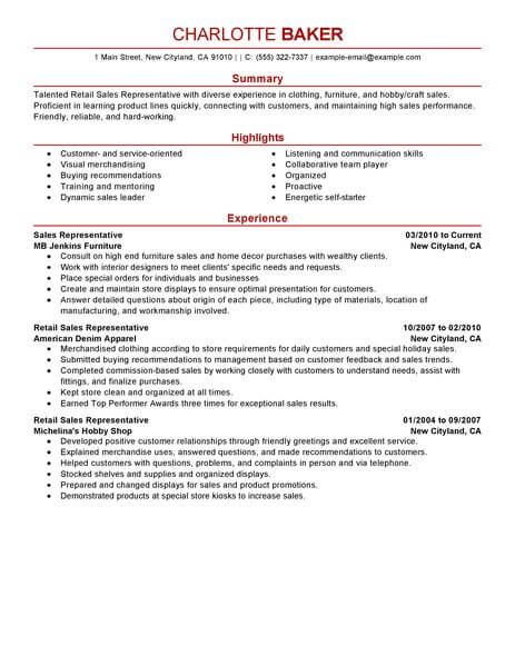 Of Customer Service Customer Service Resume Retail Resume