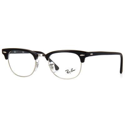 8e99916d75815 Armação de Óculos de Grau Ray Ban Clubmaster Retrô Optics Acetato Preto -  RX51542000