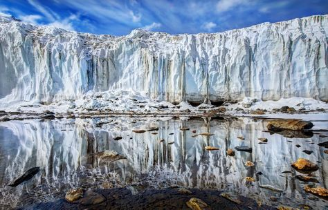 Approaching the Ice Wall Here's the intimidating view as I approached this glacier.  - photo from #treyratcliff Trey Ratcliff at http://www.StuckInCustoms.com