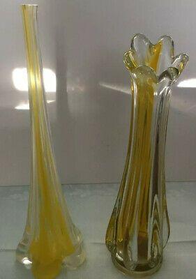 Vintage Yellow Glass Swing Bud Vase Wedding Lot Skinny Vase Beautiful Ebay In 2020 Bud Vases Vintage Yellow Vase