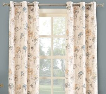 Lila Insulated Print Grommet Curtain Panel Curtain Bath Outlet