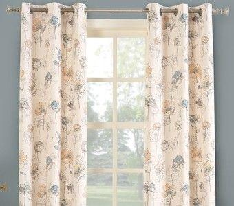 Lila Insulated Print Grommet Curtain Panel Curtain Bath Outlet