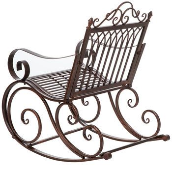 Brown Metal Rocking Chair Metal Rocking Chair Rocking Chair Chair
