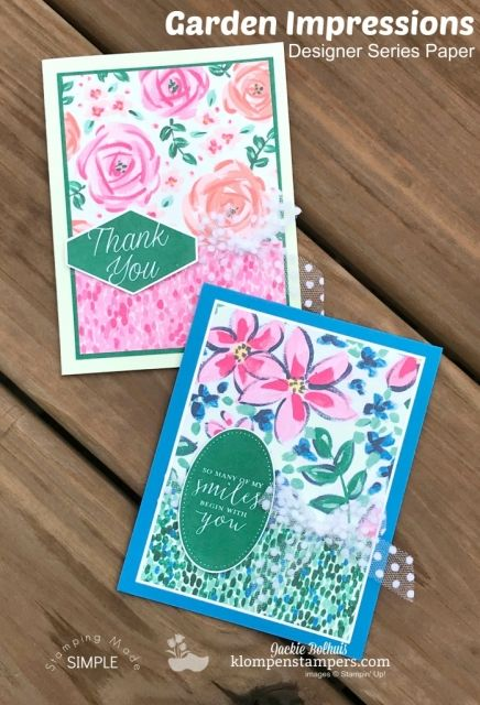 Design It With Dsp Garden Impressions Card Ideas Simple Cards
