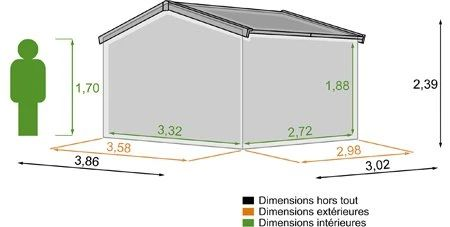 Abri De Jardin Bois Naterial Kerno Axess Ep28 Mm 905 M²