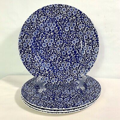 Queens Calico Blue White Chintz Dinner Plates 10 1 2 Set Of 4 In 2020 Blue And White White Dinner Plates Dinner Plates