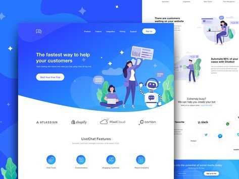 Chatbot Landing Page Best Landing Page Design Chatbot Design Chatbot