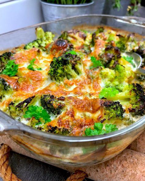 broccoligratäng med grädde