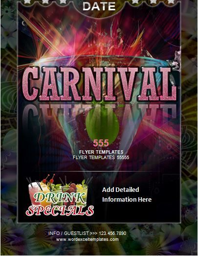 Carnival Flyer Template Word Business Templates Pinterest - flyer templates word