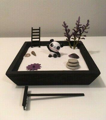 Mini Panda Purple Zen Garden Set Miniature Fairy Desktop Art Kit Usa Gift Fashion Home Garden Homedcor Zen Garden Garden Set Miniature Fairy
