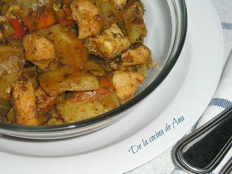 Pollo Con Patatas Al Ras El Hanout Fussioncook