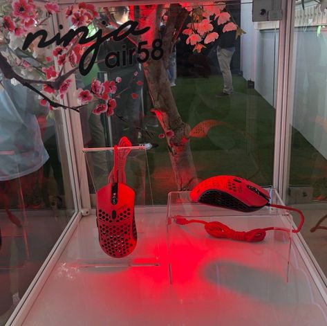 Finalmouse X Ninja Air58 Ultralight Mouse Cherry Blossom Red