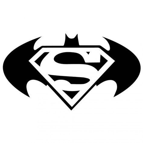 2 x Batman Logo Superhero Comic Book Vinyl Waterproof Adhesive Sticker...