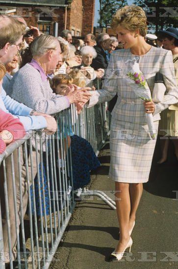 23 September 1993 Princess Diana at Saint Benedicts Hospice, Newcastle