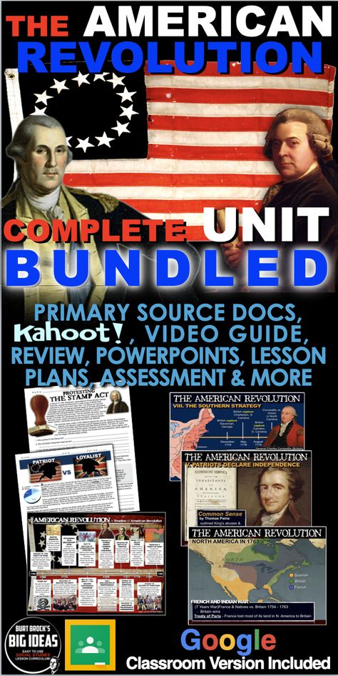 American Revolution Unit: Causes, War & Constitution + Distance Learning