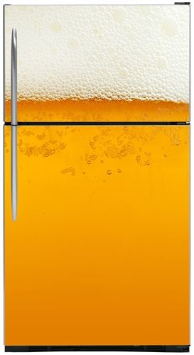 Cold Beer Refrigerator Covers, Skins & Panels | Customer Fridge Covers | Top Freezer Refrigerator Cover on SALE NOW!