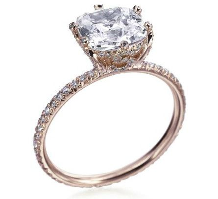 The Rose Gold Pave Ring - Erica Courtney 18k beautiful rose gold pave ring, $8,250 at Michael C. Fina