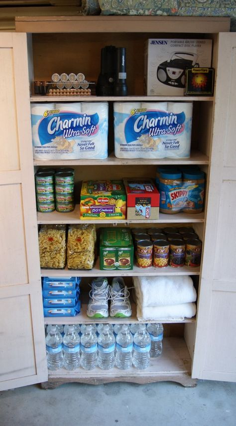 72 Hour survival kit items that should be in your house, this list comes directly from FEMA. Keep it in a cabinet in the garage.    How to Put Together an Emergency Preparedness Kit