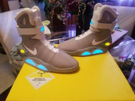 164cb8441be7 Details about Automatic Laces Air Mag Sneakers Marty McFly s LED ...