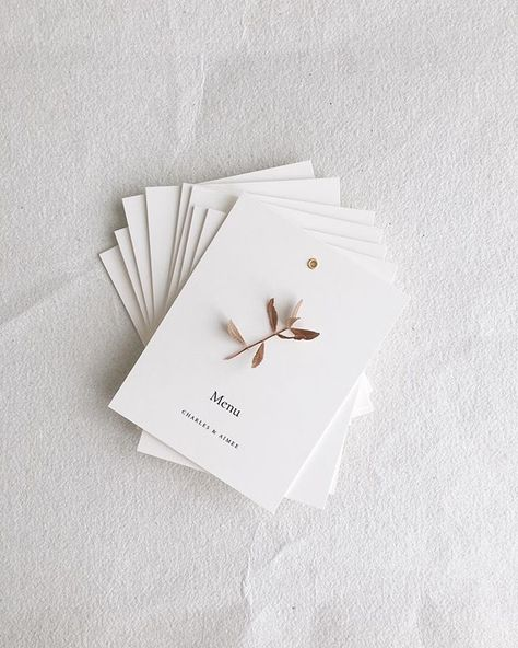 Remember these pretty menus? The original design for these were used for a styled shoot last year. Im thrilled to be able to revisit these menu booklets this year There still needs a bit of dressing (leather string and vellum card) but even this plain version is just so lovely!