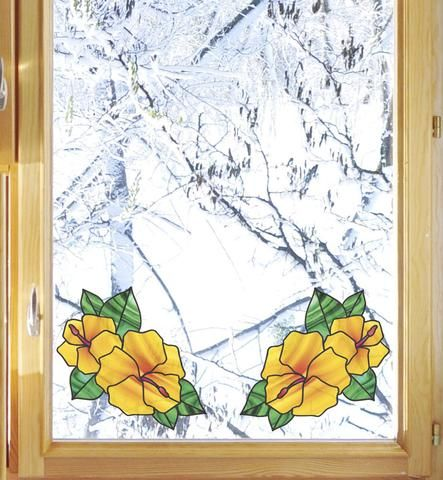 """CLR:WND Stained Glass Vinyl Window Decal ©YYDC Butterfly D1 4.75/""""w x 6/""""h"""
