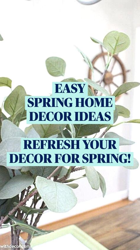 EASY SPRING HOME DECOR IDEAS | REFRESH YOUR DECOR FOR SPRING!