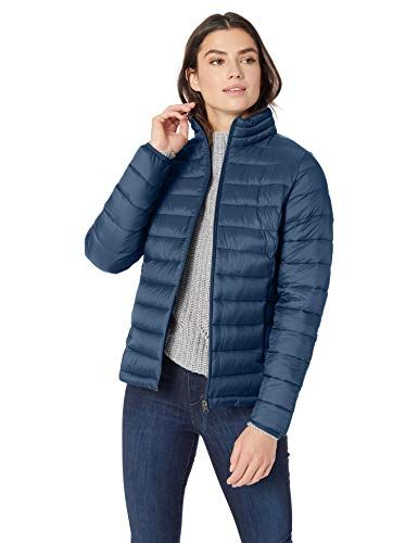 Essentials Womens Lightweight Water-Resistant Packable Puffer Jacket
