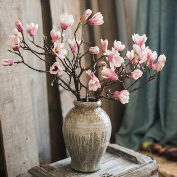 Magnolia Full Bloom Silk Flower Stem White Vintage Flower Arrangements Flower Arrangements Silk Flower Arrangements