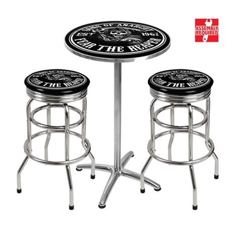 Sons of Anarchy Bar Table & Stools | Home Deco | Pinterest | Bar ...