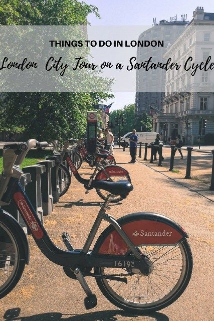Self Guided London City Tour On A Santander Cycle For Hire