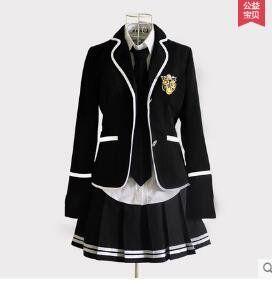 Japanese Anime Classic Navy Sailor Suit Long Sleeve Girl S School