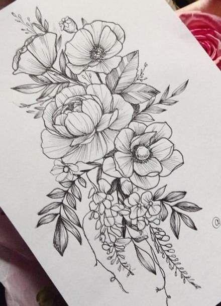 45 Ideas For Flowers Tattoo Leg Floral Flower Tattoo Shoulder Tattoos Flower Tattoo Drawings