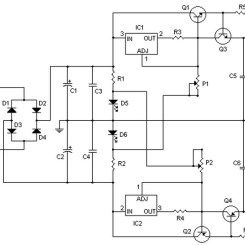 Symmetrical Regulated Power Supply And Variable 0 To 30v 2a Power Supply Circuit Power Supply Variables