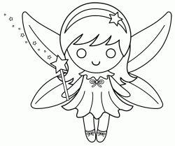 Peri Kizi Boyama Sayfasi Fairy Girl Coloring Page Pagina Para