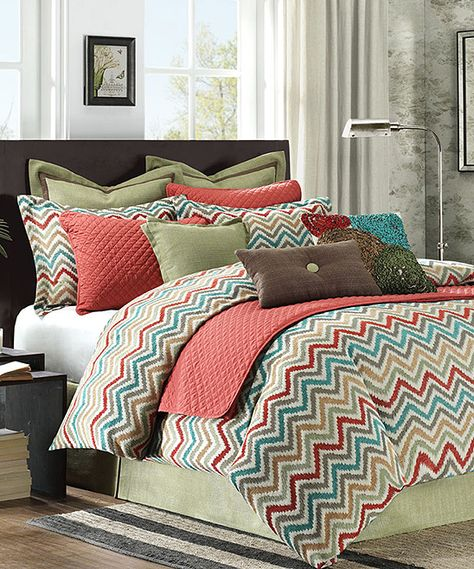 Multicolor Chevron Bedding