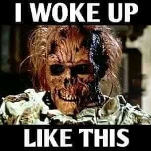Pin By Amber Ford On Humor Creepy Pictures Halloween Funny Wake Me Up