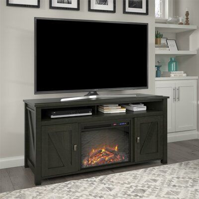 Mistana Whittier Tv Stand For Tvs Up To 60 Inches With Electric Fireplace Included Color Ivory Pine Fireplace Console Fireplace Tv Stand Black Rooms