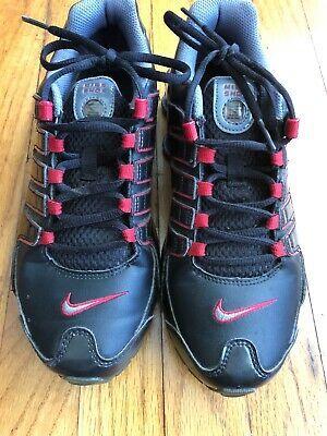 timeless design f4ca4 898d7 Sponsored)eBay - Nike Shox NZ GS 317929 060 Black Red Boys ...