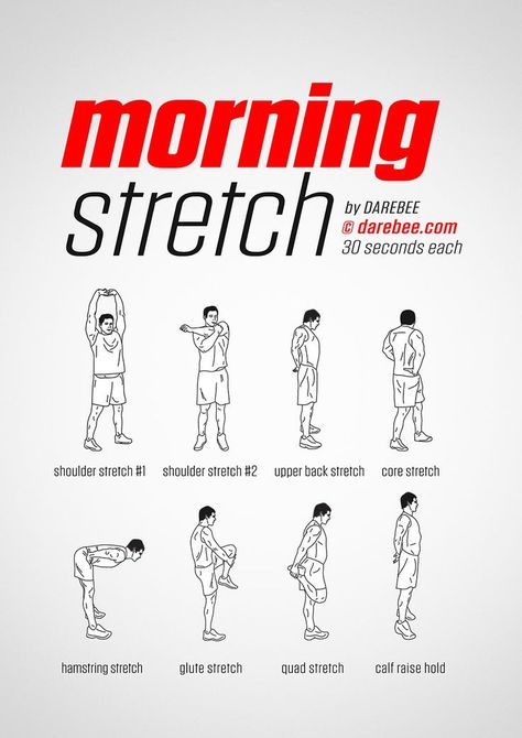 Étirement du matin #fitness #workout #darebee #wednesdaymotivation #thestraightrevi ... - Fitness