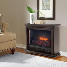 Pleasant Hearth 31 75 In W Espresso Wood And Metal Infrared Quartz Electric Fireplace Infrared Fireplace Electric Fireplace Freestanding Fireplace