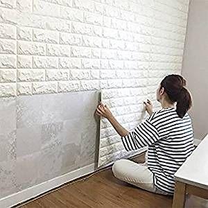 Dodoing 3d Brick Muster Tapete Ziegel Design Zuhause Diy Wandpaneele