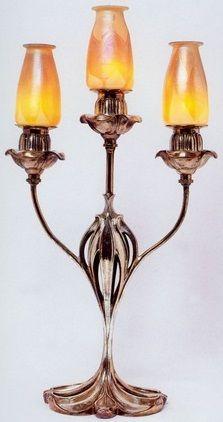 Daum table lamp. Nancy,France,circa 1900- 1905. Настольная
