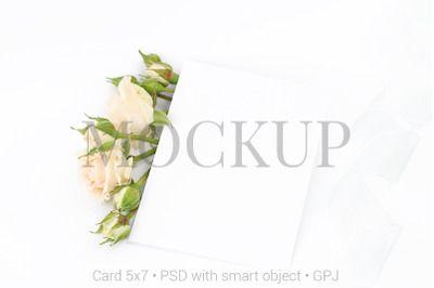 Download Mockup Invitation Card With Roses Free Bonus Psd Mockup Template Design Mockup Free Free Psd Mockups Templates Free Psd Design