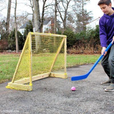 Diy Street Hockey Goal In 2020 With Images Street Hockey Hockey Goal Sports Goal