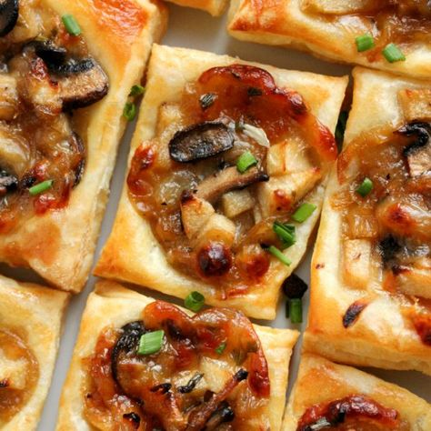Caramelized Onion, Mushroom, Apple and Gruyere Bites - Table for Two® by Julie Wampler