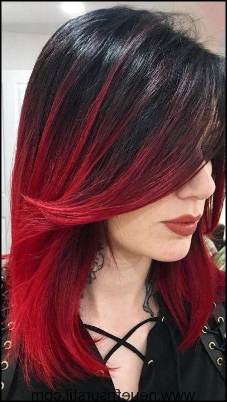 haar farbe ideen mit rot und schwarz