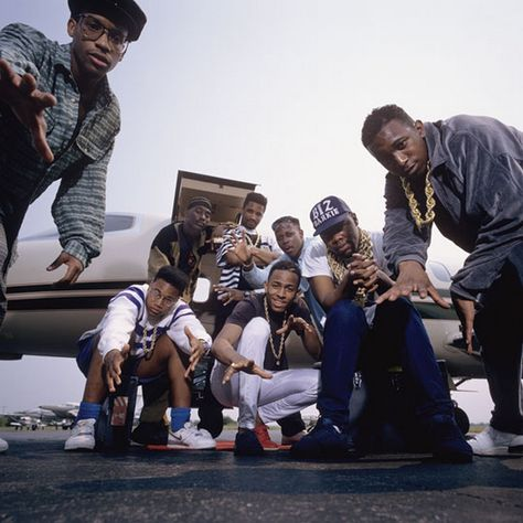 The Juice Crew: Master Ace, Craig G, Big Daddy Kane, Marley Marl, MC Shan, Biz Markie & Kool G Rap